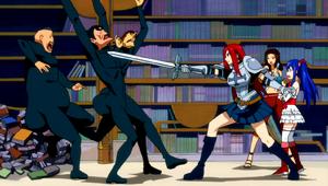Team Erza vs. Jiggly Butt Gang