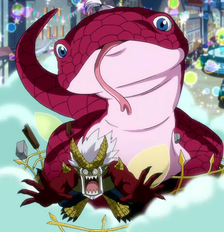 File:Mirajane as a gecko and Elfman on Fantasia Parade.jpg