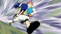Natsu follows Gray's command