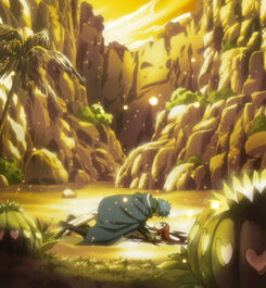 Jellal and Erza after falling
