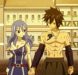 Gray and Juvia Holding Hands