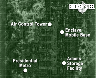 Adams Air Force Base map