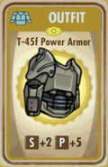 FoS T-45f Power Armor Card