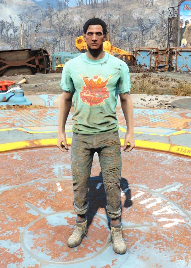 nukaworld shirt amp jeans fallout wiki fandom powered