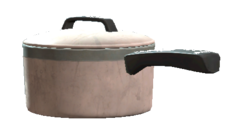 Small covered sause pan