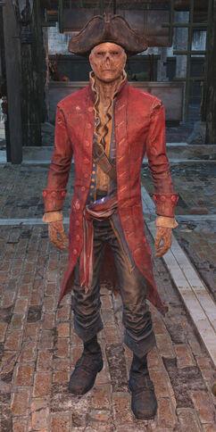 John Hancock red frock coat