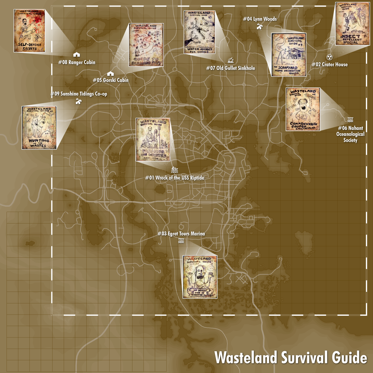 Image Fo4 Map Wasteland Png Fallout Wiki Fandom