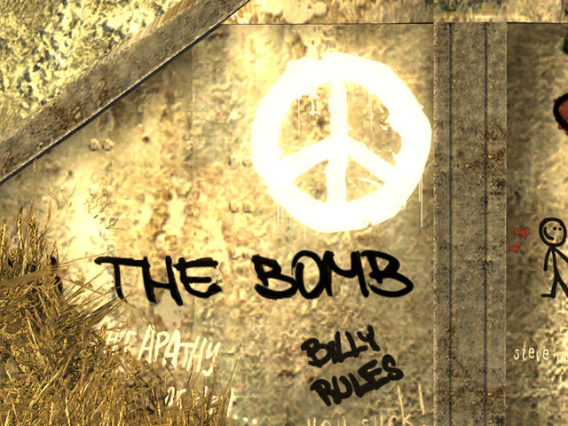 File:Ban the Bomb graffiti.jpg