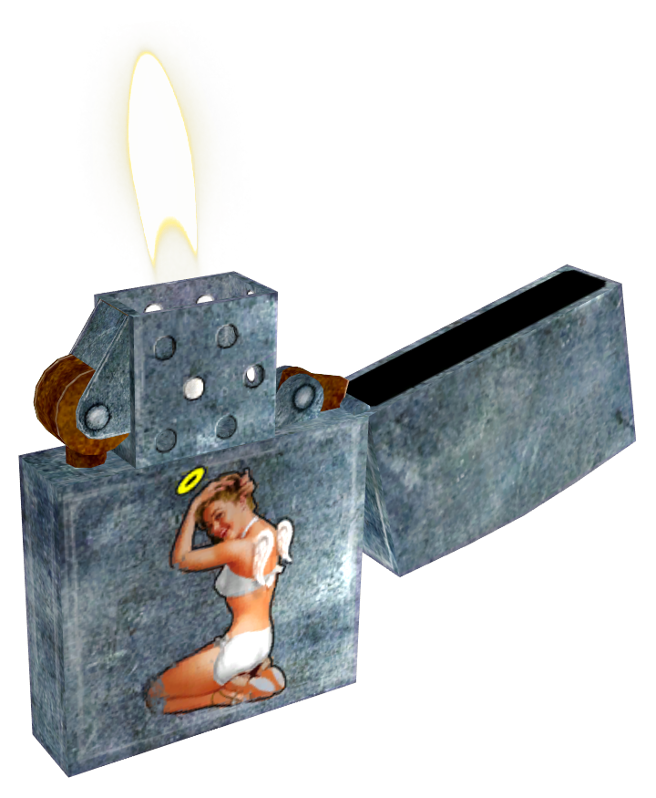 engraved cigarette lighter
