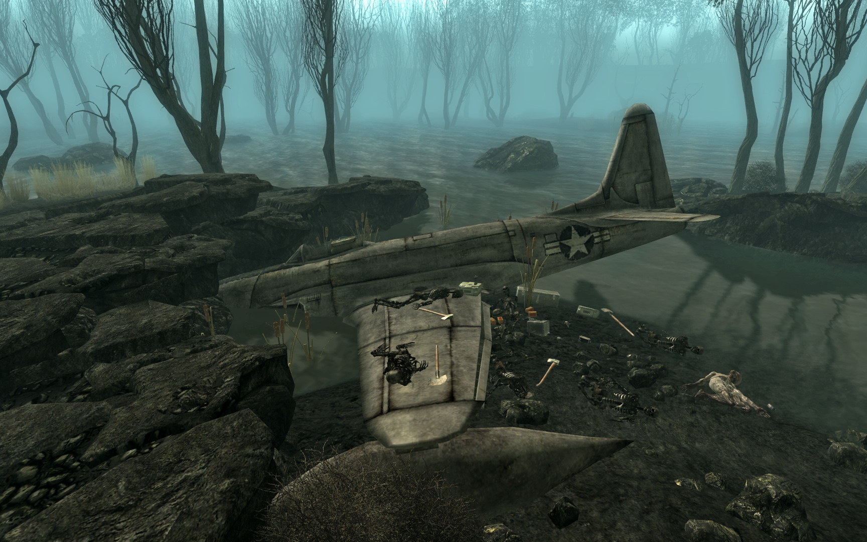 fallout 3 rivet city with Jet Crash Site on Medieval Concept Art Gallery further 3612 besides 1122 Future Cities additionally Jet crash site also Washington Monument.