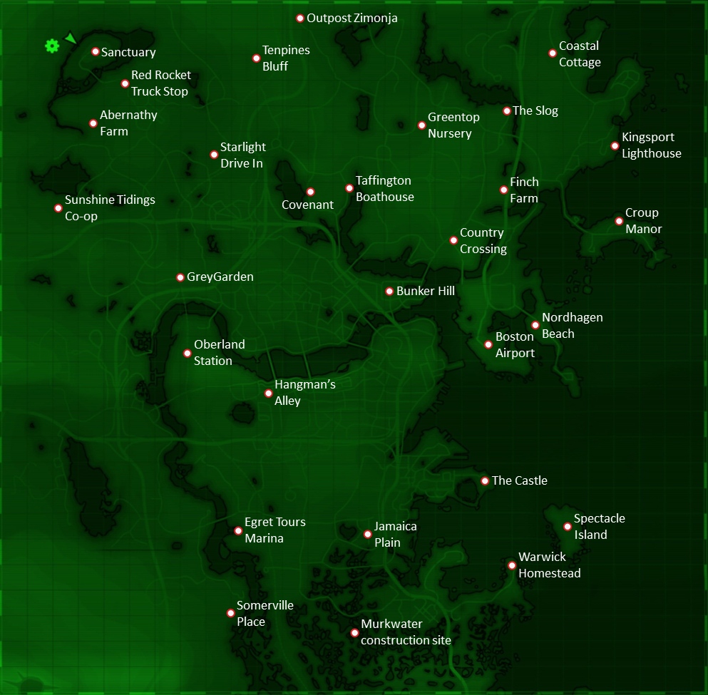 Fallout 4 Locations Fallout Wiki Fandom Powered By Wikia