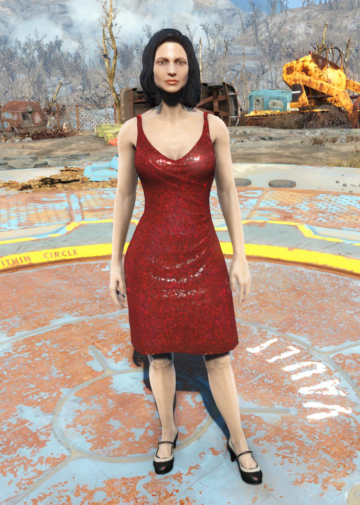D c red dress run zombie