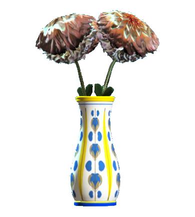 File:New floral flared vase.png