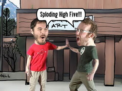 Wart-sploding-high-five