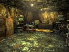 Prison building interior