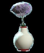 Glass bud red vase