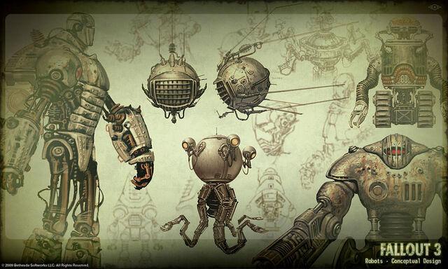 File:Fallout 3 Robot Concept Art.jpg