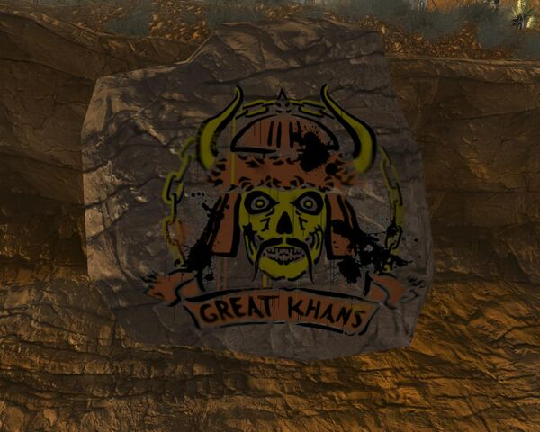 File:Fallout New Vegas Great Khan Sign In Red Rock Canyon (2).jpg