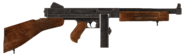 .45 Auto submachine gun with the drum magazine modification