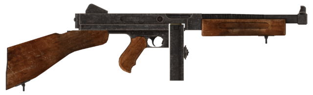 File:.45 Auto submachine gun with the drum magazine modification.png