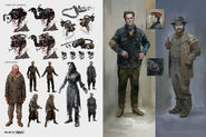 Art of Fo4 wasteland outfits concept art