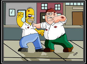 File:Homer Vs Peter Dream Fight by AngelCrusher.jpg