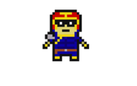 Captain falcon pixel art by radiochicken1-d7wkb57
