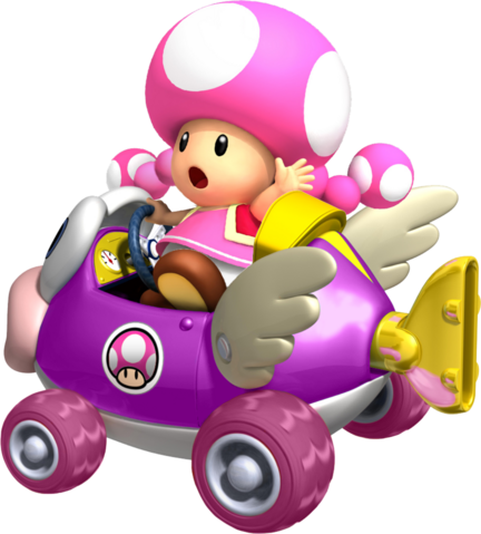 File:Toadette cheep charger by tonytoad22-d3ic8um.png