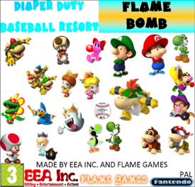 Diaper Duty Baseball Resort Flame Bomb BETA PAL2
