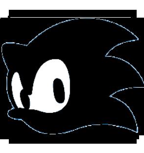 "Sonic the Hedgehog Symbol - Super Smash Bros. (black)"" by ..."
