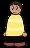 Shirt Yellow Striped Generic