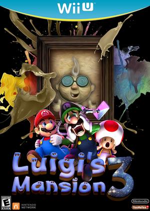 Luigi's Mansion 3 Portrait Panic - Box Art Wii U