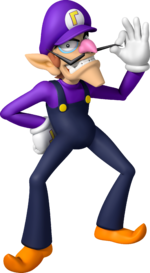 Mario Party - Island Tour Waluigi Artwork