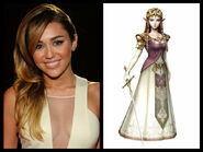 Miley Cyrus as Zelda