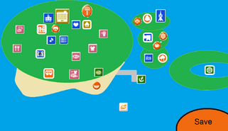 Tomodachi New Life Map Screen