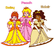 Peach, Daisy, and Eclair