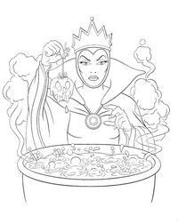 Evil Queen - Coloring Page