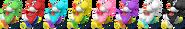 SSBRiot Yoshi Color Palettes