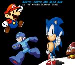 Mario Sonic and Megaman