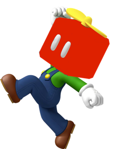 File:Luigi with a Propeller Block.png