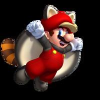 Raccoon flying squirrel mario