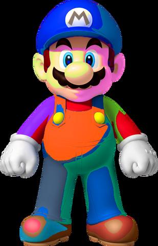 File:SM3DL2BUR Painted Mario.png