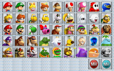 Mario Kart 8 Wii U Selection Screen