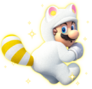 White Tanooki Mario Artwork - New Super Mario Bros. 3