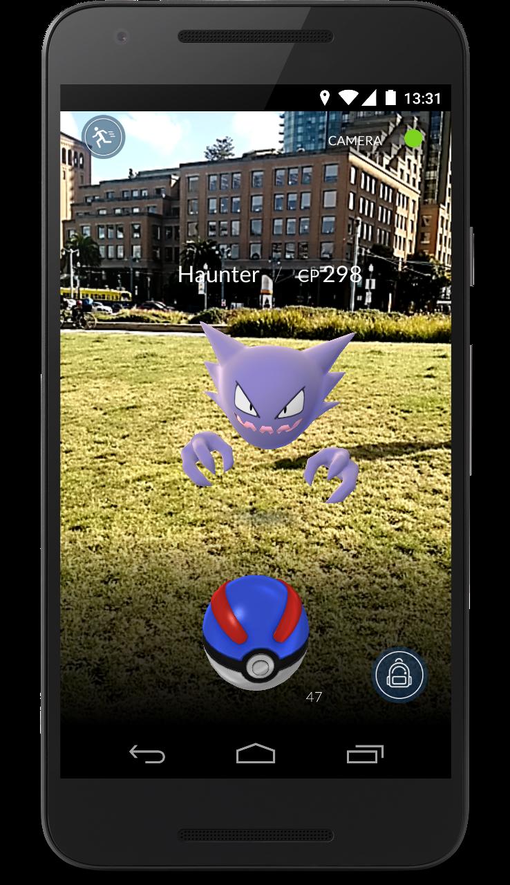 Image - Pokémon GO encounter field.png   Fantendo ...