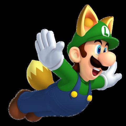 File:Raccoon Luigi NSMBW.png