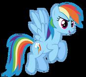 Rainbow dash flying