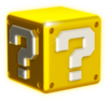 Shiny Question Block Artwork - Super Mario 3D World