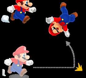 SM3DL-Mario Backwards Somersault Artwork