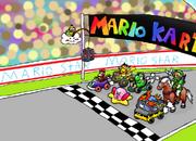 N64 Mega Mario Kart Race by charizardLv100